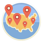 National Advertising Map Icon