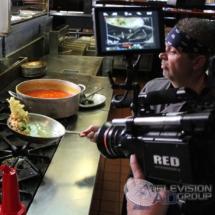 frying pan action shot